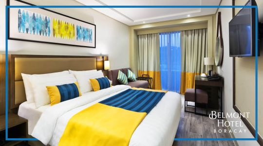 Overnight stay in a Deluxe Room for 2 pax at Belmont Hotel Boracay
