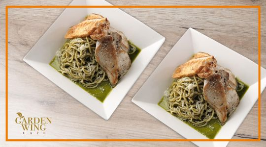 Buy 2 Creamy Pesto Pasta with Grilled Chicken at 40% off at Garden Wing Cafe