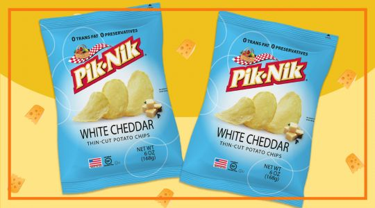 Two (2) Packs of Pik-Nik White Cheddar Potato Chips for only Php 158