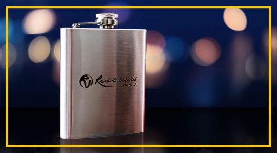 RWM Alpha Stainless Steel Flask with Velvet Pouch