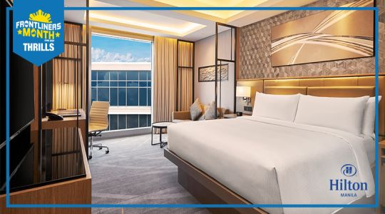 Overnight stay at Hilton Manila with breakfast with perks and discounts
