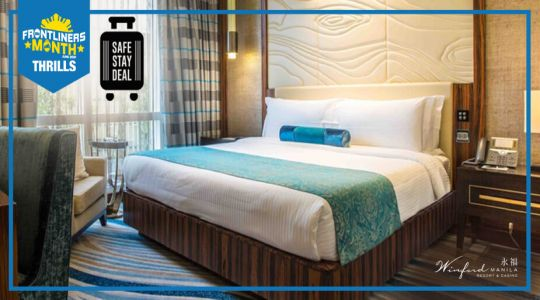 Overnight essential stay at Winford Manila Resort and Casino with meals