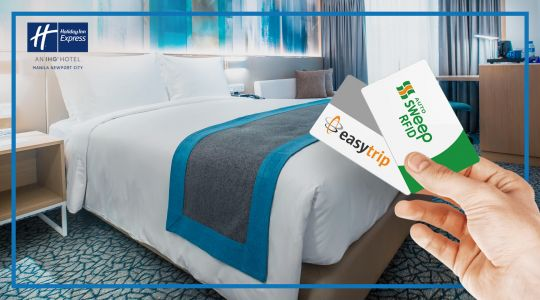 Relax and Reload: Overnight Stay at Holiday Inn Express Manila with PHP1,000 RFID credits