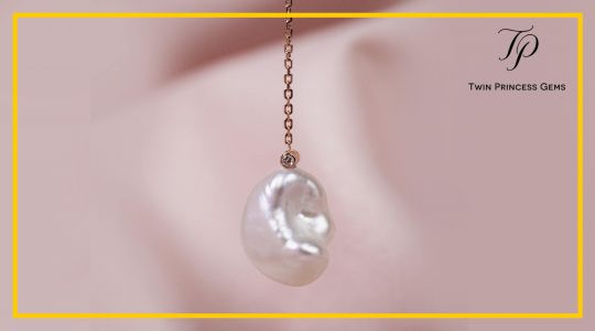 Marahuyo - Keshi Pearl Drop Pendant with Adjustable Chain Necklace