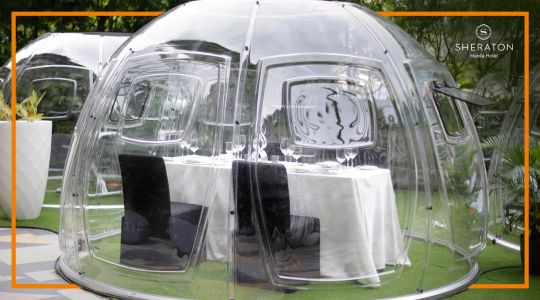 Vubble Pods Dining Package for 2 at Sheraton Hotel Manila
